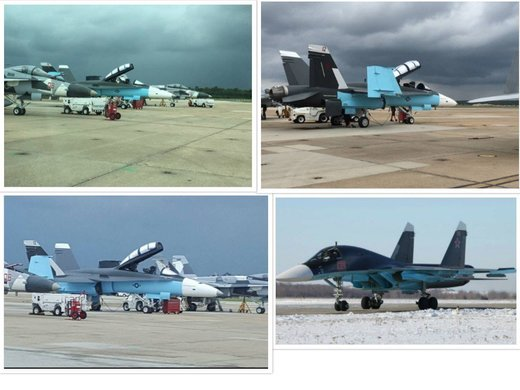 usa jets painted as russian jets