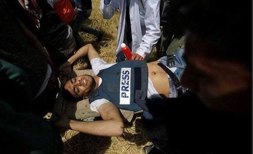 Yaser Murtaja press killed gaza 02