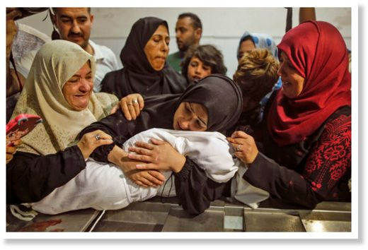 Palestinian mothers gaza dead baby