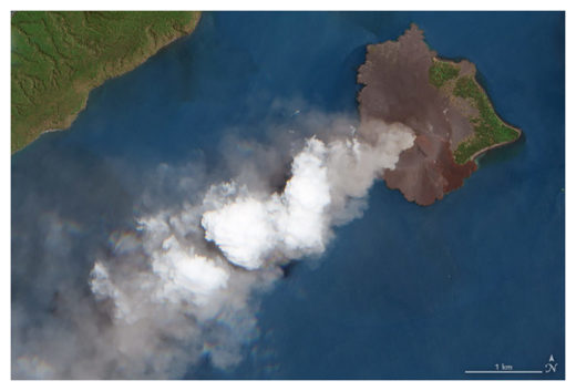 Krakatau Volcano Spewing Smoke
