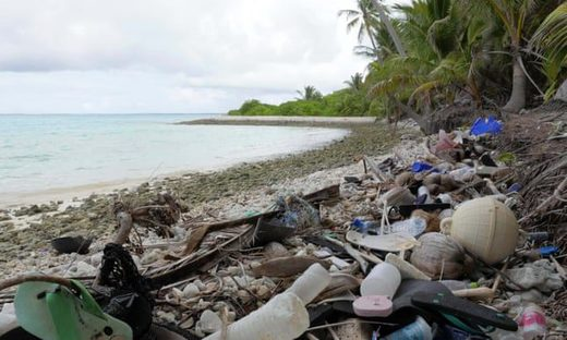 Plastic waste on Cocos Island