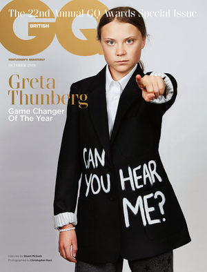 GQ magazine greta thunberg
